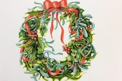 Holly and Mistletoe Wreath