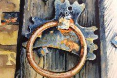Old door handle in Bakewell