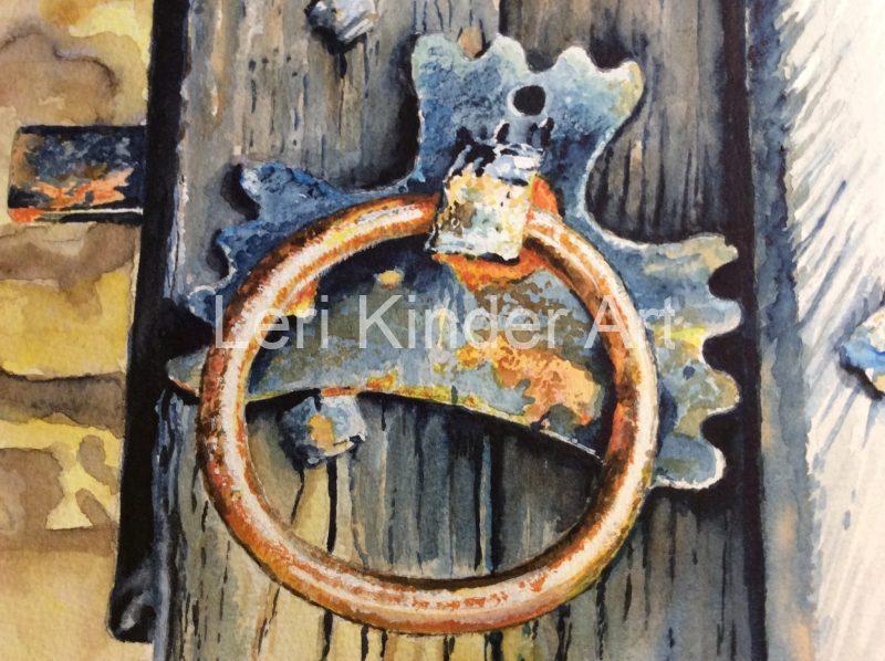 Old door handle in Bakewell [SOLD]