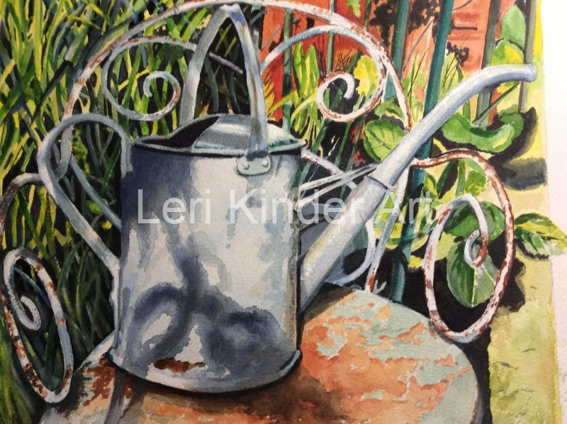 Watering can at a cottage in Ludlow