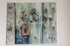 Old oak door in Ludlow, Shropshire