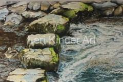 Stepping Stones, Bodnant Gardens, North Wales [SOLD]