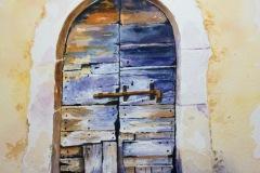 Old Door in Précised, Italy